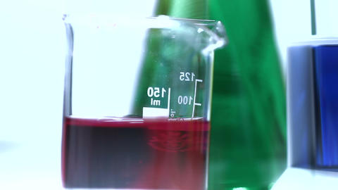 Laboratory CSI 217 investigating tilt stylized Stock Video Footage