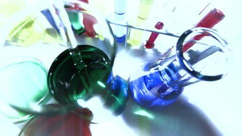 Laboratory CSI 225 investigating stylized Stock Video Footage