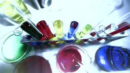 Laboratory CSI 227 investigating stylized Stock Video Footage