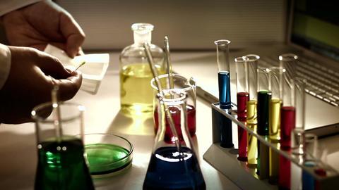Laboratory CSI 229 investigating stylized Stock Video Footage