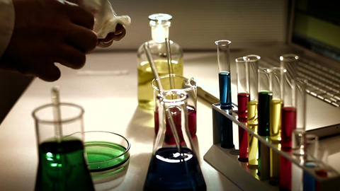 Laboratory CSI 231 investigating stylized Stock Video Footage
