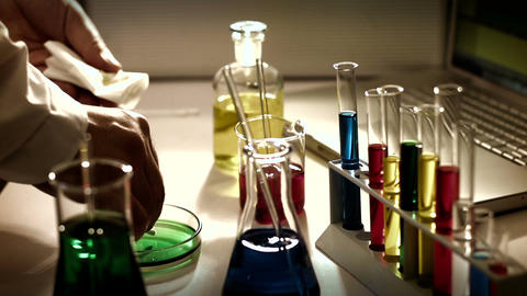 Laboratory CSI 231 investigating stylized Stock Video Footage