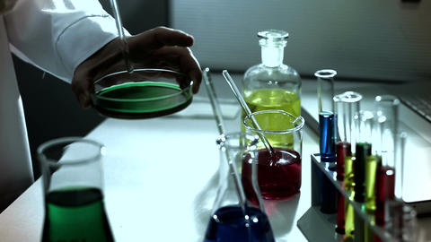 Laboratory CSI 233 investigating stylized Stock Video Footage