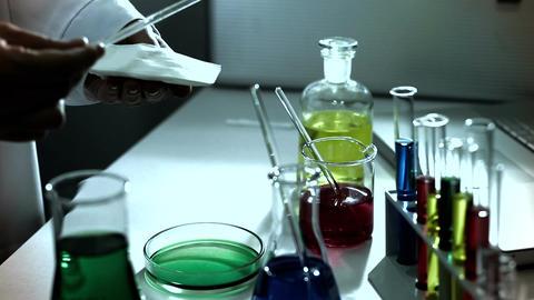 Laboratory CSI 233 investigating stylized Stock Video Footage