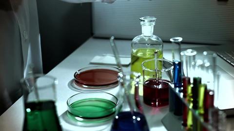 Laboratory CSI 235 investigating stylized Stock Video Footage