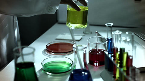 Laboratory CSI 235 investigating stylized Stock Video Footage