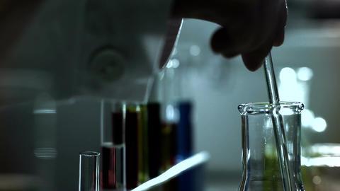 Laboratory CSI 243 investigating stylized Stock Video Footage