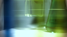 Laboratory CSI 251 investigating dolly stylized Stock Video Footage
