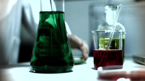 Laboratory CSI 253 investigating stylized Stock Video Footage