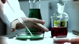 Laboratory CSI 253 investigating stylized Stock Video Footage