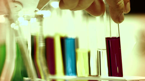 Laboratory CSI 259 investigating focus change stylized Stock Video Footage