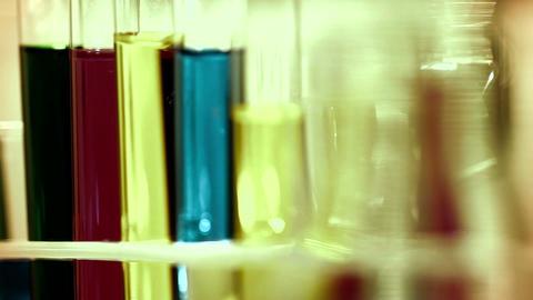 Laboratory CSI 261 investigating dolly stylized Stock Video Footage
