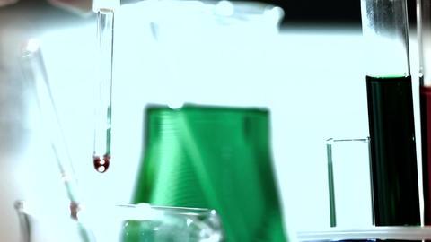 Laboratory CSI 265 investigating tilt stylized Stock Video Footage