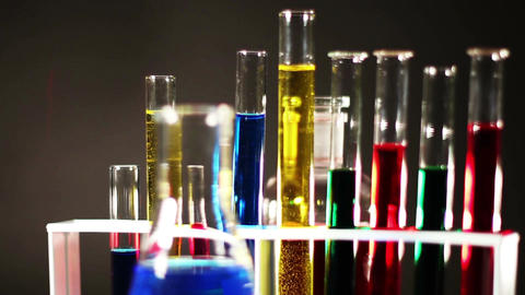 Laboratory CSI Concept rotating 05 Stock Video Footage