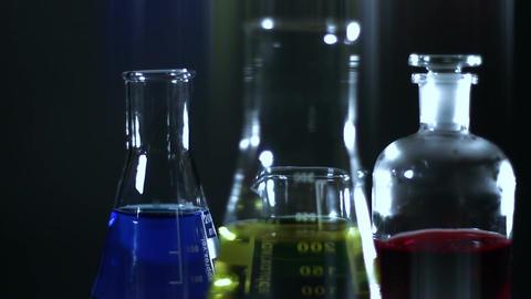 Laboratory CSI Concept rotating 11 stylized Stock Video Footage