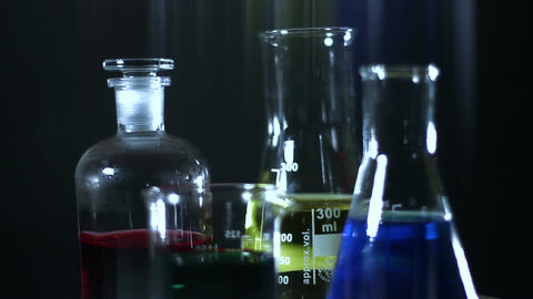 Laboratory CSI Concept rotating 11 stylized Stock Video Footage
