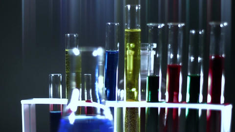 Laboratory CSI Concept rotating 13 stylized Stock Video Footage