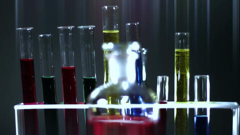 Laboratory CSI Concept rotating 13 stylized Stock Video Footage