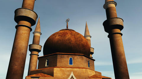 Mosque 01 Stock Video Footage
