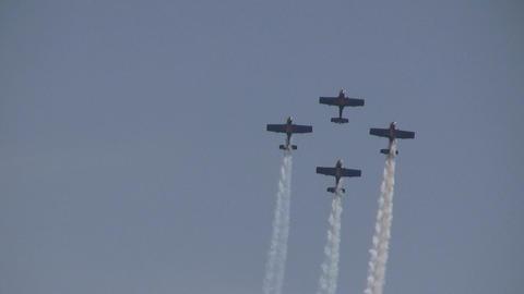 Zlin-50LX---Aerobatics-formation Stock Video Footage