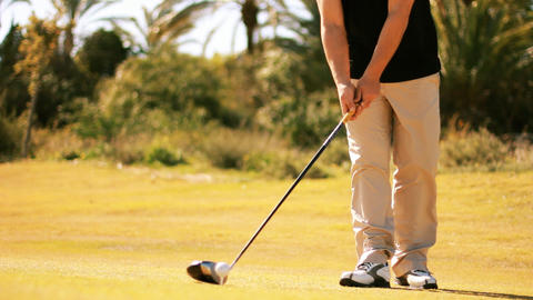 Golf golfer win winner boss competition pleasure relaxing... Stock Video Footage