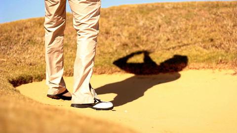 Golf golfer win winner boss competition pleasure relaxing... Stock Video Footage