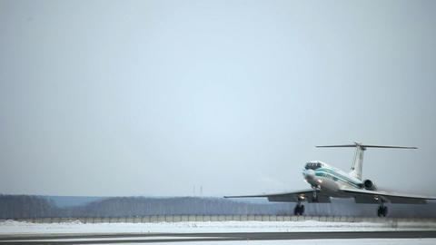Tupolev-134. Landing Stock Video Footage