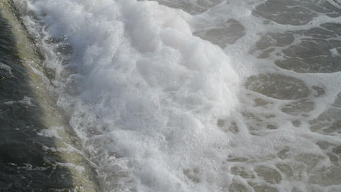 erupting water in a whirlpool Stock Video Footage