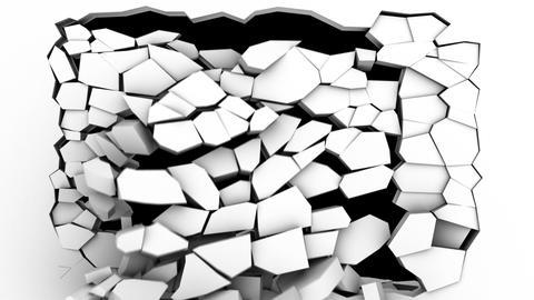 wall crack, Stock Animation