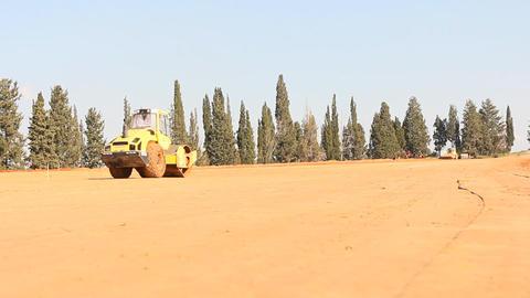 Heavy vehicles Heavy mining soil loader road vehicles truck digging Asphalt Live Action