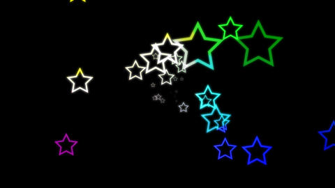HD Loopable Stars Animation Stock Video Footage