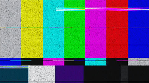 Distorted color bars Stock Video Footage