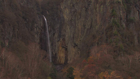 The Waterfall in Autumn,Nagano,Japan Stock Video Footage