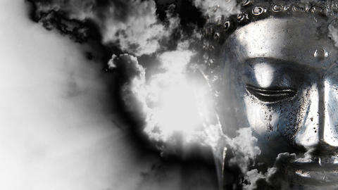Buddha Buddhist meditate zen culture buddhism temple... Stock Video Footage