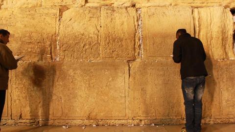 Jerusalem holy land Israel kotel western wall Jews holocaust city citys mitzvah Footage
