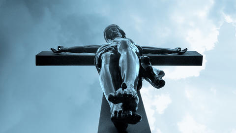Jesus Christ church crucified crucify Religion cross... Stock Video Footage