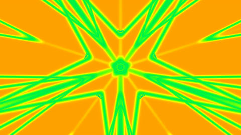 Green pattern on a yellow background Stock Video Footage