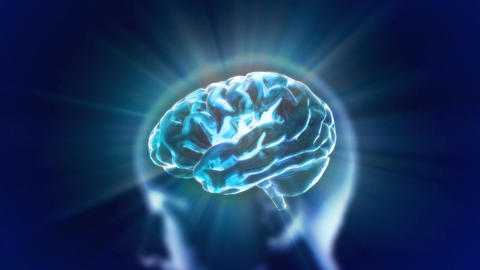 Blue Head Brain Flare stock footage