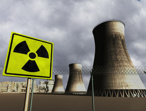 4K Nuclear Station Cooling Towers 01 Stock Video Footage