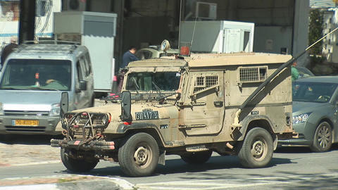 Israel army car Stock Video Footage