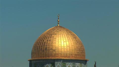 Jerusalem Dome of the Rock 1 Stock Video Footage