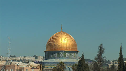 Jerusalem Dome of the Rock 1 Stock Video Footage