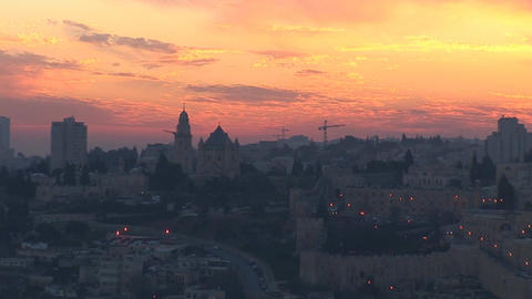 Jerusalem old sunset 5 Footage