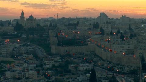 Jerusalem old sunset 9 Stock Video Footage