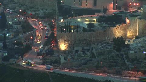 Jerusalem old sunset 13 Stock Video Footage