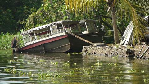 Broken boat Stock Video Footage