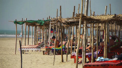 Goa India beach Stock Video Footage