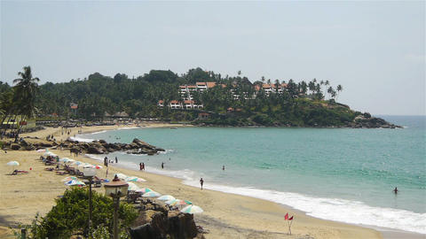 South India beach Stock Video Footage