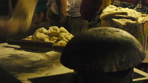Indian nan maker Stock Video Footage