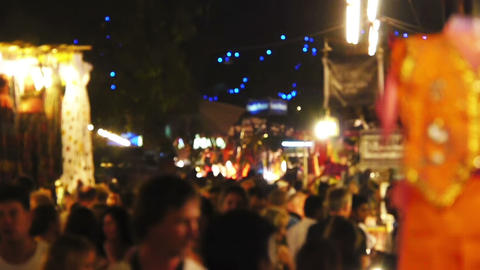 Goa India night market Stock Video Footage
